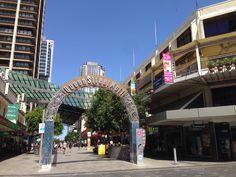 Street Mall, Street View, Brisbane Australia, Sunshine State, Queen