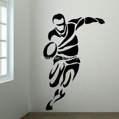 Cheap bedroom mdf, Buy Quality bedroom drawing directly from China bedroom art Suppliers: Free shipping RUGBY PLAYER BEDROOM WALL ART STICKER wall Decal DIY Home Decoration Wall Mural Removable Bedroom Sticker