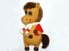 """Лошадка Маруся (""""Подарки заказывали?""""). Ярмарка Мастеров - ручная работа, handmade. Coloring Book Art, Rubrics, Art Dolls, Teddy Bear, Clay, Felted Wool, Toys, Needle Felting, Crochet"""