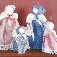 Homemaker's Journal: Pioneer Handkerchief Dolls