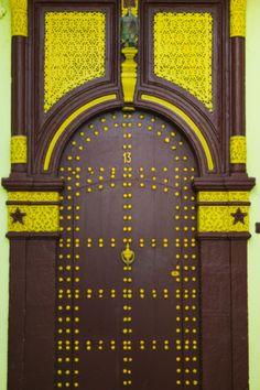 Morocco, Rabat, Kasbah des Oudaias, doorway