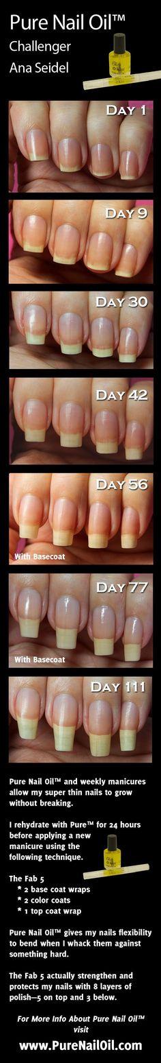 www.NailCareHQ.com nail-strengthener-Ana tests Pure Nail Oil™ nail strengthener and cuticle oil.: