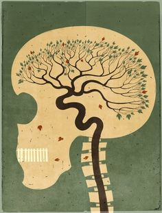 "Shout by Alessandro Gottardo. Nice ""brain"" art for work. Brain Illustration, Graphic Illustration, Graphic Art, Design Graphique, Art Graphique, Brain Art, Hermann Hesse, Anatomy Art, Arte Popular"