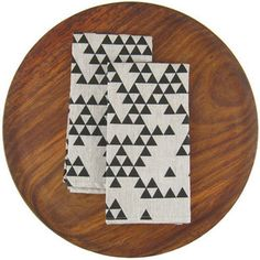 Triangle Linen Napkin Set
