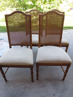 8 Faux Bamboo Dining Tall Chairs Hollywood Regency Mid Century Modern Cane  MCM #dixie