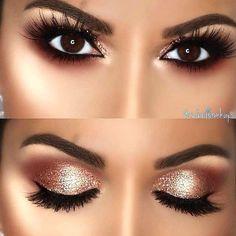 Smokey Eye Makeup, Makeup For Brown Eyes, Skin Makeup, Eyeshadow Makeup, Copper Eye Makeup, Brown Eyes Pop, Smokey Eye For Brown Eyes, Drugstore Makeup, Dark Brown