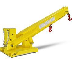 Titan Attachments Forklift Adjustable Mobile Crane Lifting Hoist Truss Jib Boom Hook for sale online