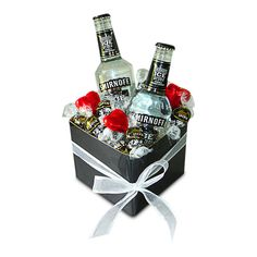Smirnoff and Lindts    Smirnoff and Lindts is a perfect combination of 2 bottles of Smirnoff Black Vodka and 7 delicious Lindt chocolate balls.   Smirnoff and Lindts comes gift wrapped in cellophane with a bow and a COMPLIMENTARY gift message card.   Next day delivery available to most Sydney Metro and Central Coast areas.   Overnight delivery available to most Blue Mountains, Newcastle and Wollongong Areas.