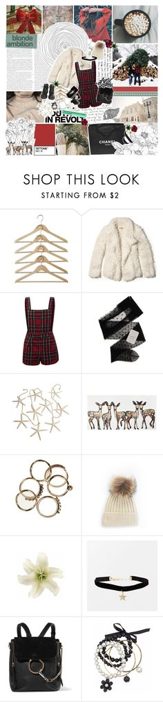 """OO4. // christmas ain't the time for breaking each other's hearts"" by ycllowflickerbeat ❤ liked on Polyvore featuring Kara, Hollister Co., Gerbe, Hedi Slimane, Dr. Martens, Chanel, WALL, Clips, Prada and Chloé"
