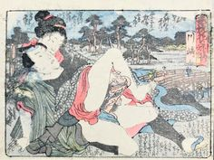 Buy online, view images and see past prices for SHUNGA-Erotic Print. A couple of lovers. Geisha Art, Spring Pictures, Japanese Geisha, Japanese Prints, Japan Art, Old Master, Woodblock Print, Erotic Art, Fine Art