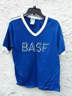 Vintage BASF V Neck Jersey Shirt Small Blue by Fchoicevintage on Etsy Vintage Shirts, Vintage Men, Vintage Outfits, 80s Fashion, Blue Fashion, Vintage Fashion, Jersey Shirt, T Shirt, Striped Jersey