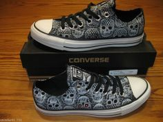 New Converse Women's Chuck Taylor All Star Skull Ox Sneakers 540225F #Converse #FashionSneakers