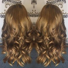 Chocolate Peanut Butter Hair Color #hairstyle #haircut #beautifulhaircolor #burlingtonnc #getyourshineon #naturalhair