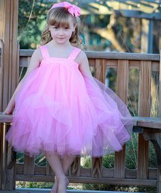 This Pink Polka Dot Tutu Dress Set - Infant, Toddler & Girls by Heart to Heart is perfect! #zulilyfinds