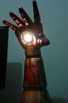 Iron Man Lamp- Iron Man Suit not included http://cnet.co/16va72W