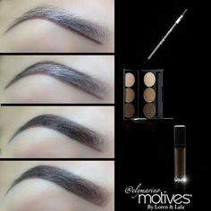 Tutorial for eye brows using Motives brow kit & Motives brow gel, http://motives.marketamerica.com/mistydoherty/??refEmail==USA