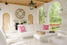 Rounded doors + Ceiling + piece above mantle  |  Suellen Gregory   |  via The Pink Pagoda