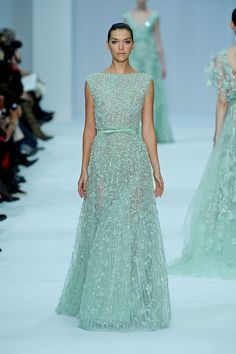 Elie Saab Spring 2012 couture...I am absolutely in love with this color