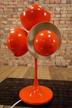 70s Designer Tischlampe Vintage Eames Ära 70er Lampe Space-Age Sputnik Orbit