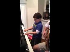 Ethan -a 6 year old with Autism plays Billy Joel's Piano Man (So cute!)