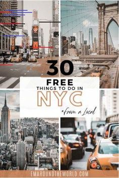 Discover 30 FREE things to do in New York City and neighboring boroughs. Highlights include some upcoming events as well as attractions that are free all year round. travel usa 30 Free Things to Do in New York City Visit New York City, New York City Travel, Travel Hotel, Travel Usa, Canada Travel, Nightlife Travel, Beach Travel, Death Valley, Empire State Building