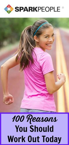 Don't feel like working out today? Get moving with these motivating reasons to be fit! | via @SparkPeople
