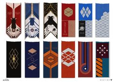 Concept artist and designer Joseph Cross has posted some of the concept art and designs he created for Destiny. Bungie Destiny, Auryn, Banner, Game Ui Design, Concept Art World, Flag Art, Mobile Art, Game Character Design, Flag Design