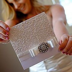 embossed diy wedding invitation