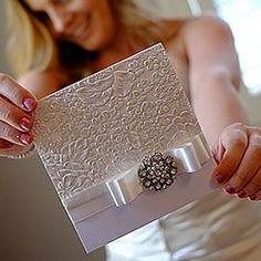 embossed diy wedding invitation