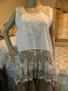 Lace Tunic Top Resurrected Couture