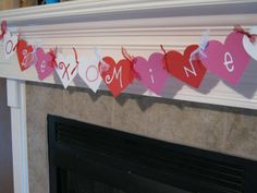 Cute banner for valentines day