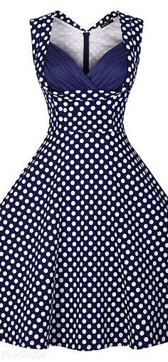 Vintage 1950's Polka Dot Dress