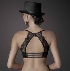 Lovely back bralette Sexy Lingerie, Lingerie Bonita, Jolie Lingerie, Pretty Lingerie, Beautiful Lingerie, Tango Dress, Designer Lingerie, Leila, Blouse Designs