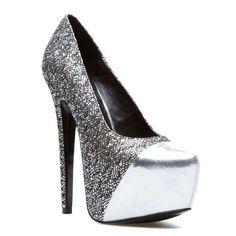 Silver Metallic Heels.   ♥Shoes