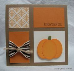 love the clean and simple feel of this fall pumpkin card