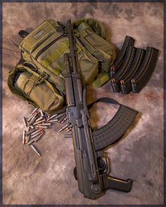 AK-47 and supply pack @Raul Gutierrez Lessa