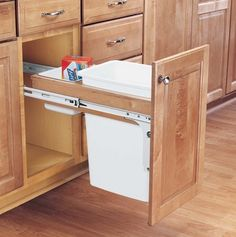 Wood Classics Pull-Out Waste Container - kitchen trash cans - houston - Cornerstone Hardware & Supplies