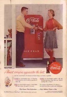 Coke Machine (1955) The little bottles!