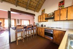 Every house has a fully equipped kitchen. Tent Camping, Safari, Relax, Houses, Kitchen, Furniture, Home Decor, Homes, Cooking