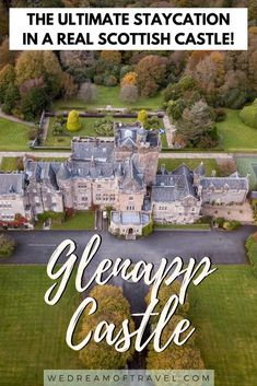 If, like me, you've always dreamed of staying at a castle then you have to stay at Glenapp Castle in Ayrshire, Scotland. This 5 star castle hotel is the perfect place for a magical castle vacation. #castlesinscotland #scottishcastles #scotland #5starhotel #luxuryhotel Scotland Travel Guide, Europe Travel Guide, Travel Abroad, Travel Guides, Edinburg Scotland, Stay In A Castle, Scottish Castles, Beautiful Castles, Travel Aesthetic