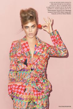 Pink Lady - Cara Delevingne by Walter Pfeiffer for Vogue UK