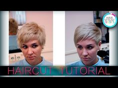 Стрижка коротких волос How to cut short hair. parikmaxer.tv - YouTube