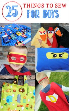 Sew up a storm for all the little men in your life with these 25 Things to Sew for Boys via Crazy Little Projects