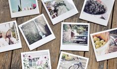 Faux Polaroid Coasters. Such a cute idea and it carries with the theme I like for my house in the future.