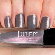Julep Devon - Slate grey with fuchsia microshimmer (Classic with a Twist)