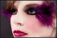 Feather lashes...I want to do a photo shoot with funky lashes!