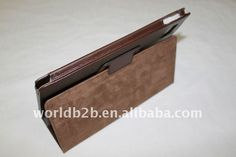 high quality portfolio leather cover case for Acer A500 tablet with stand