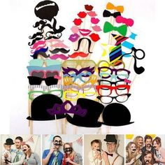 Fun Diy Party Masks Photo Booth Props Mustache On A Stick Wedding Party Favor