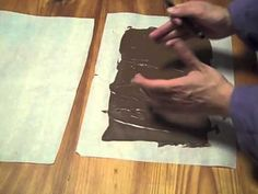 How to Make Large Chocolate Curls -