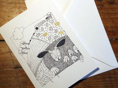 Greeting Card from an original art Illustration by EmmaGilesArt